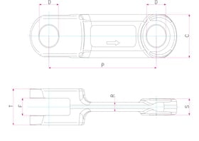 Fork-link chains_links_technical_drawing_products_KS_Kneissl_Senn_Technologie_GmbH